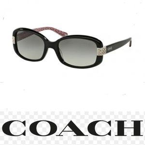 coach black butterfly  HC 8003 Lillian Z black sunglasses